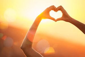 love heart hands