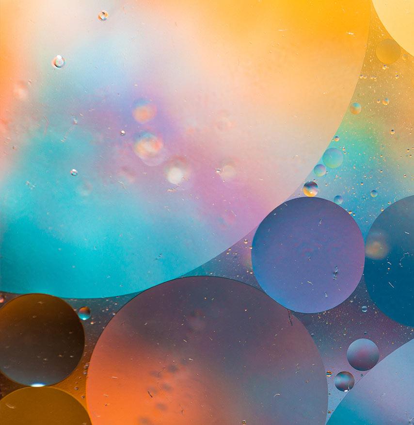 multicoloured calm circles